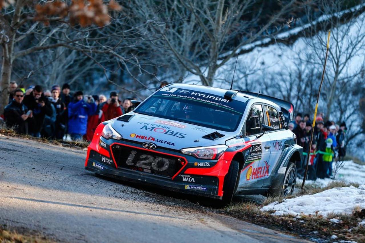 Hyundai i20 WRC - prologo Rally di Monte Carlo 2016
