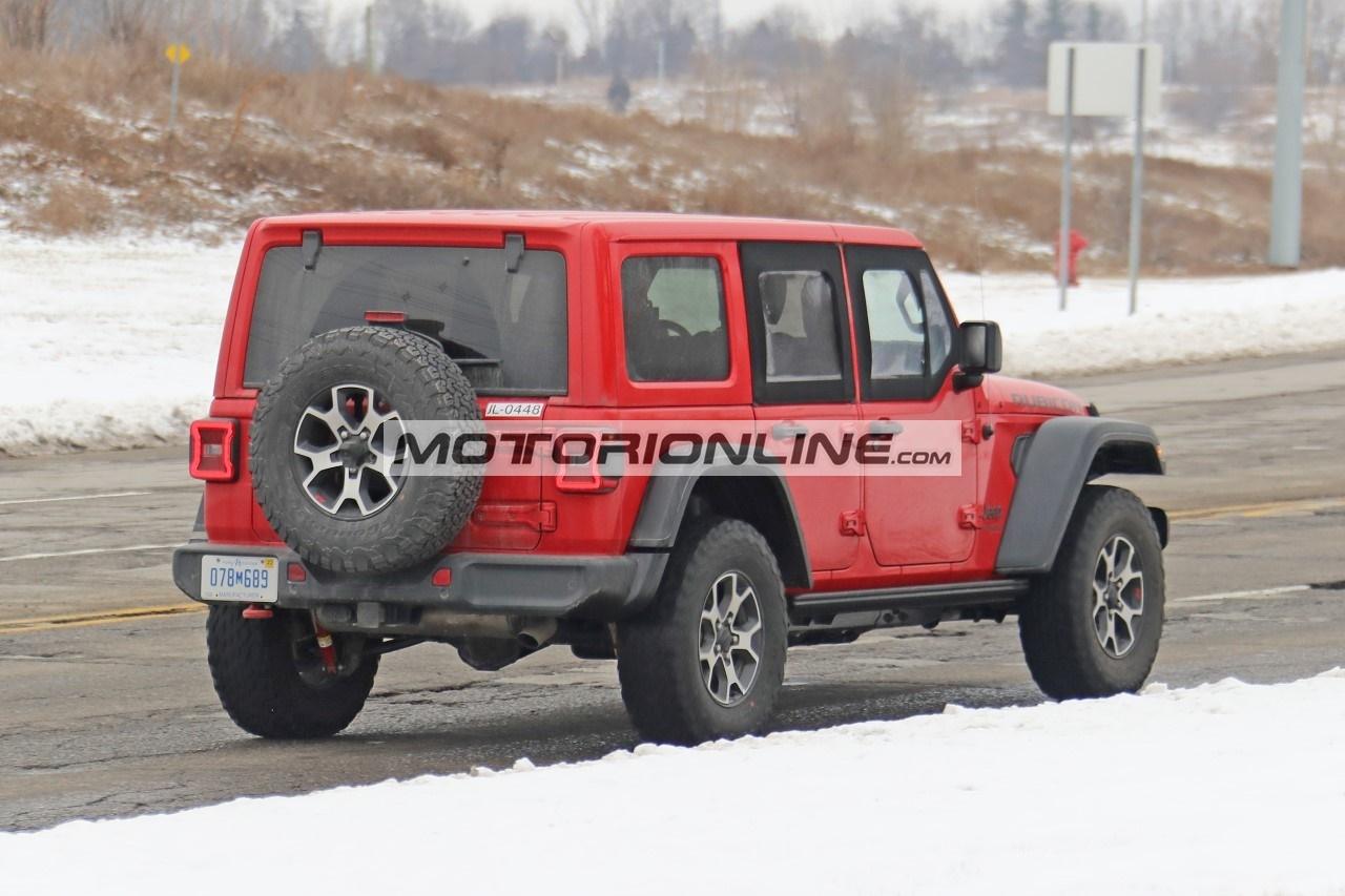 Jeep Wrangler mezze porte - Foto spia 7-1-2021