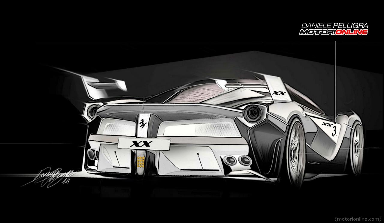 LaFerrari XX - sketch design by Daniele Pelligra