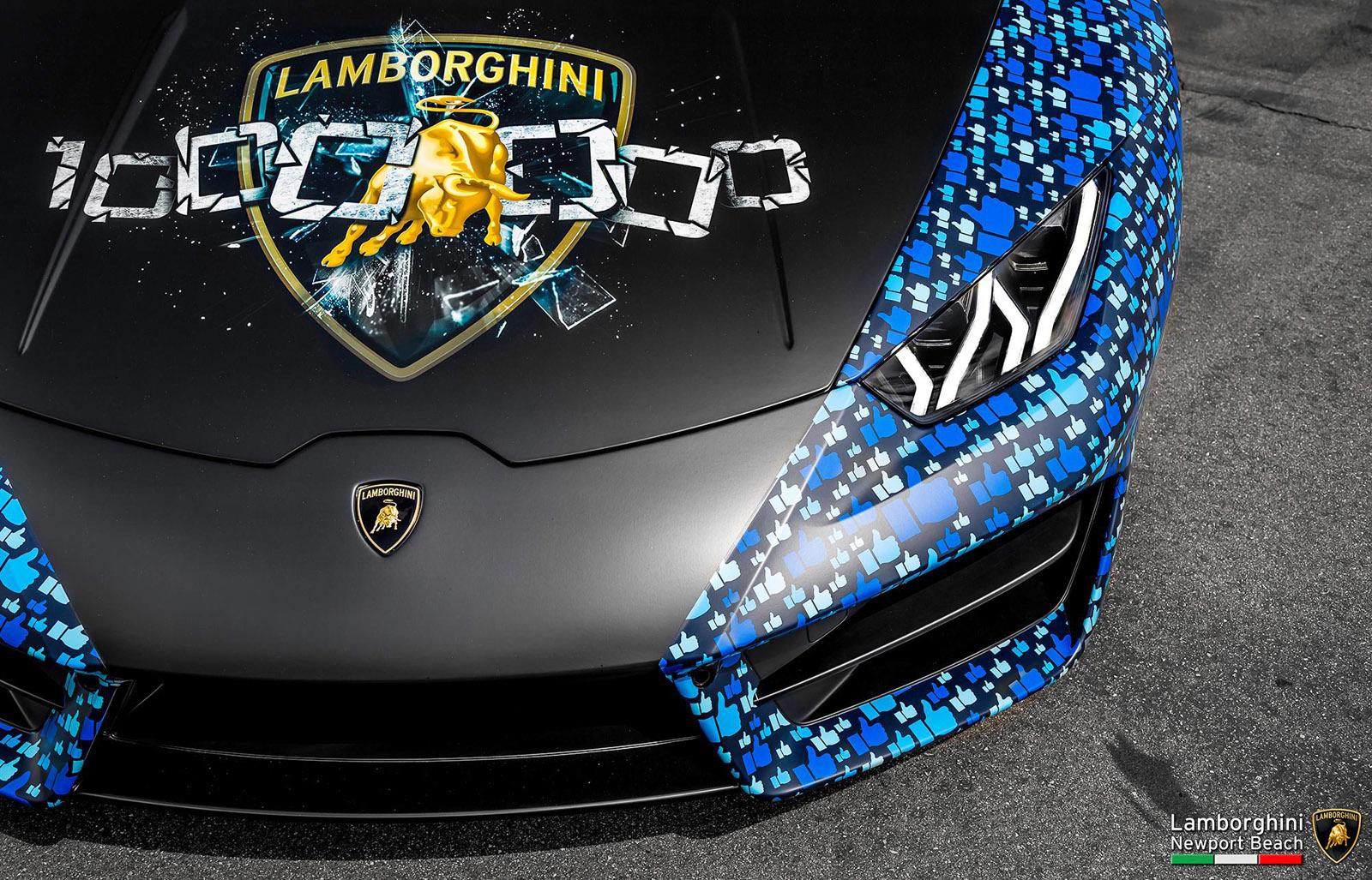 Lamborghini Huracan (livrea milionesimo like su Facebook)