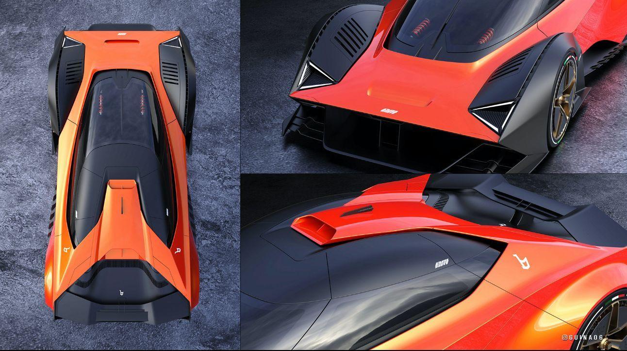Lancia Stratos moderna - Render