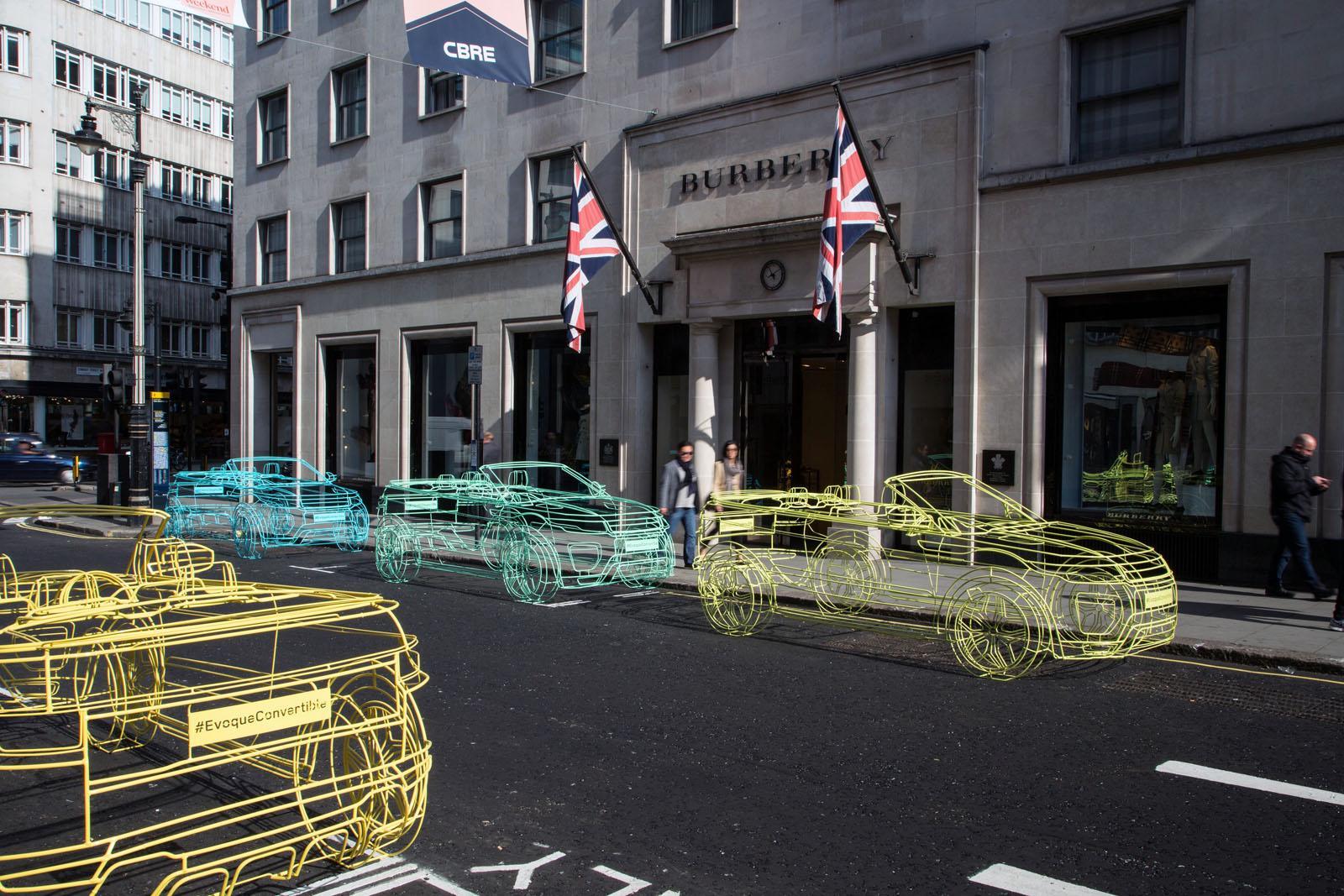Land Rover Range Rover Evoque Cabrio - Wireframe a Londra