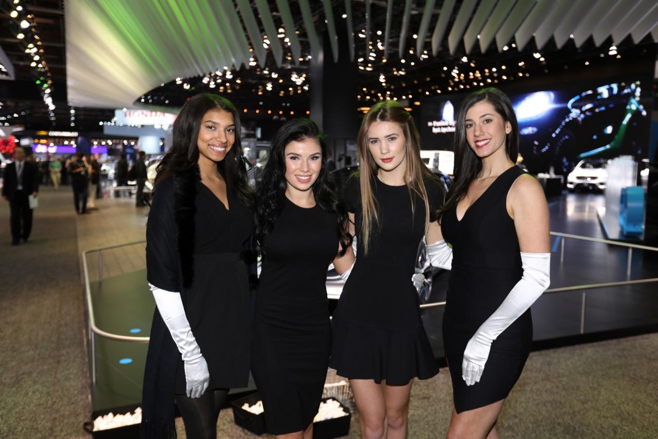 Le ragazze del Salone di Detroit 2018