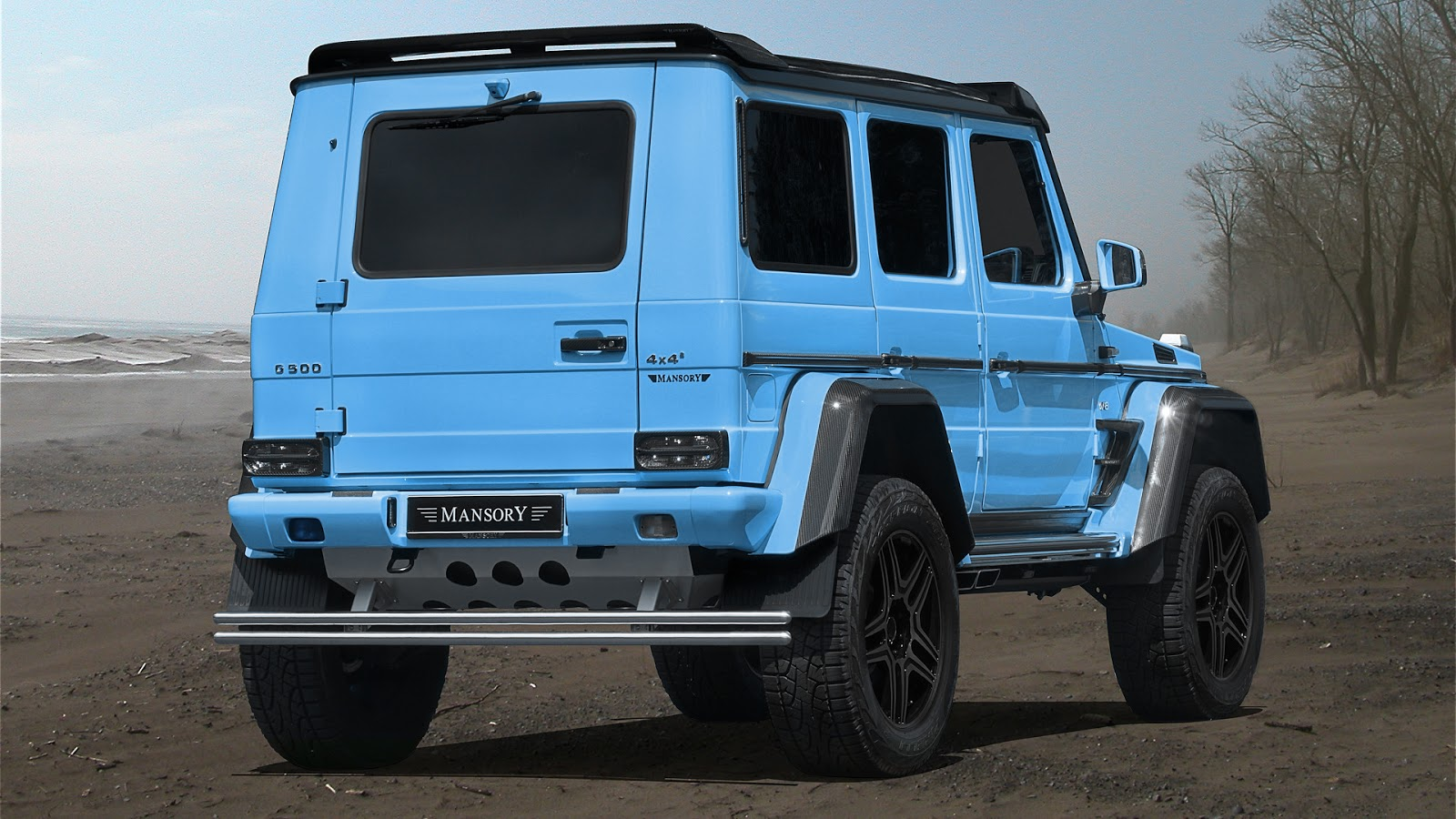 Mansory Mercedes G500 4x4 Bright Blue