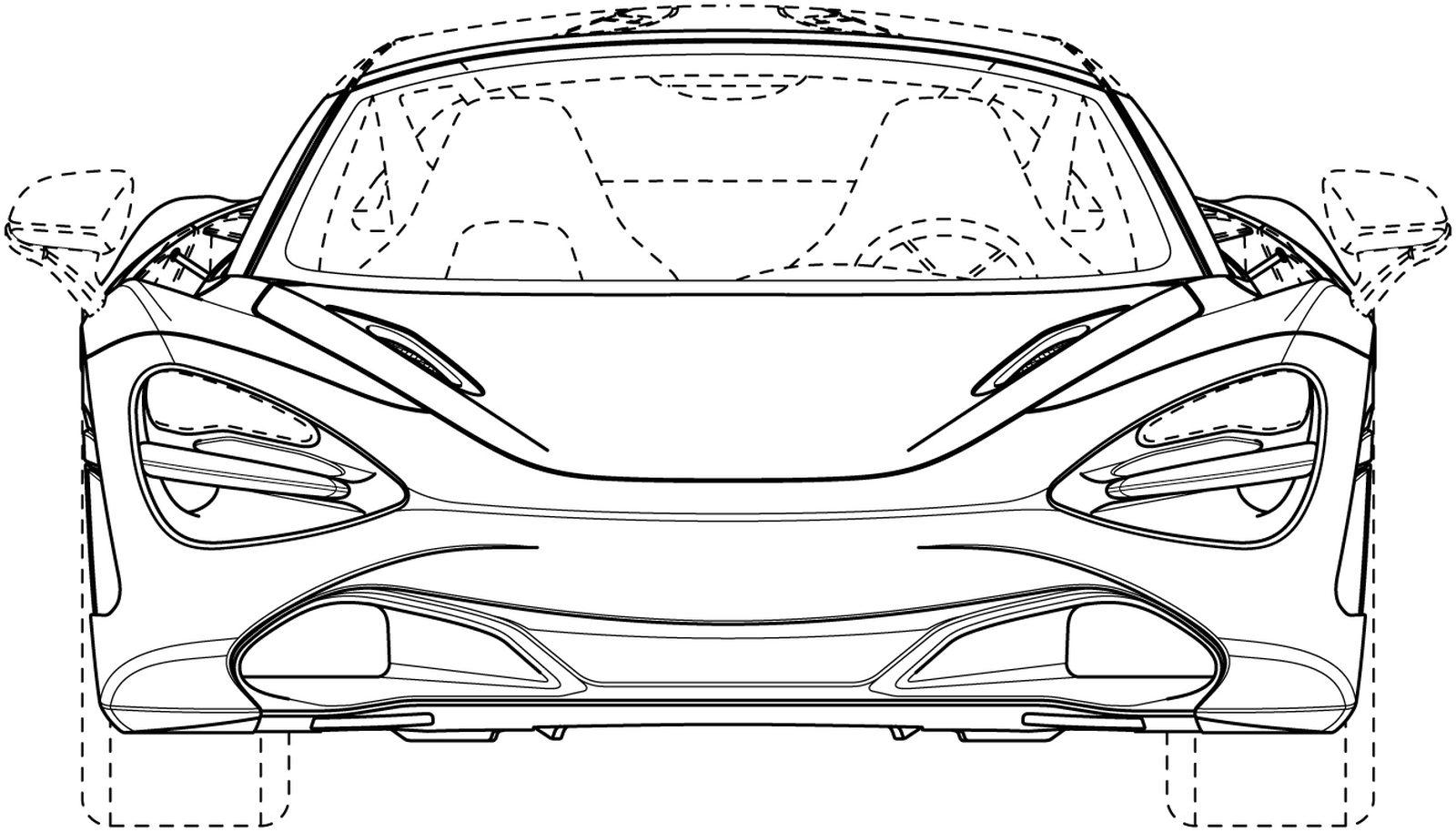 McLaren 720S Spider sketch design brevetti