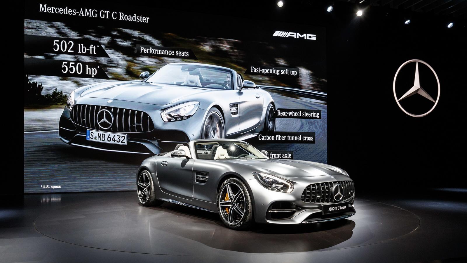 Mercedes AMG GT C Roadster al Salone di Los Angeles 2016