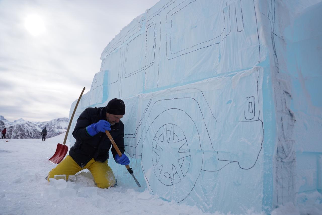 Mercedes-Benz Classe G di ghiaccio - Plan de Corones