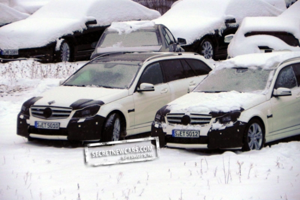 Mercedes Classe C restyling foto spia