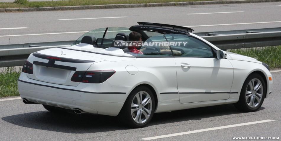 Foto spia Mercedes Classe E Cabrio