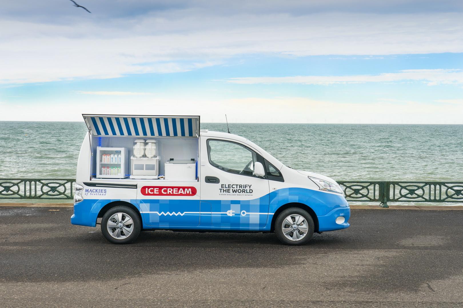 Nissan e-NV200 ice cream concept