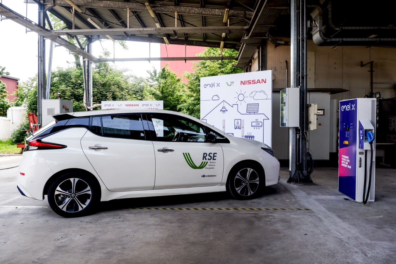 Nissan, Enel X e RSE - Sperimentazione Vehicle to Grid