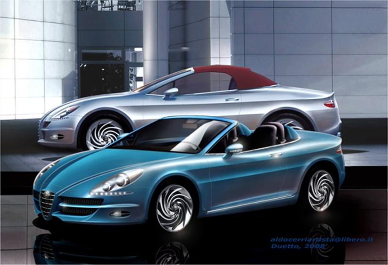 Nuova Alfa Romeo Duetto: rendering