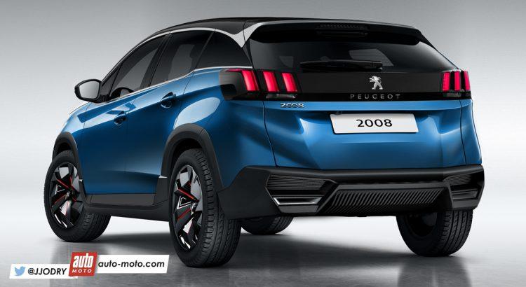 Peugeot 2008 My 2019 Rendering 3 4
