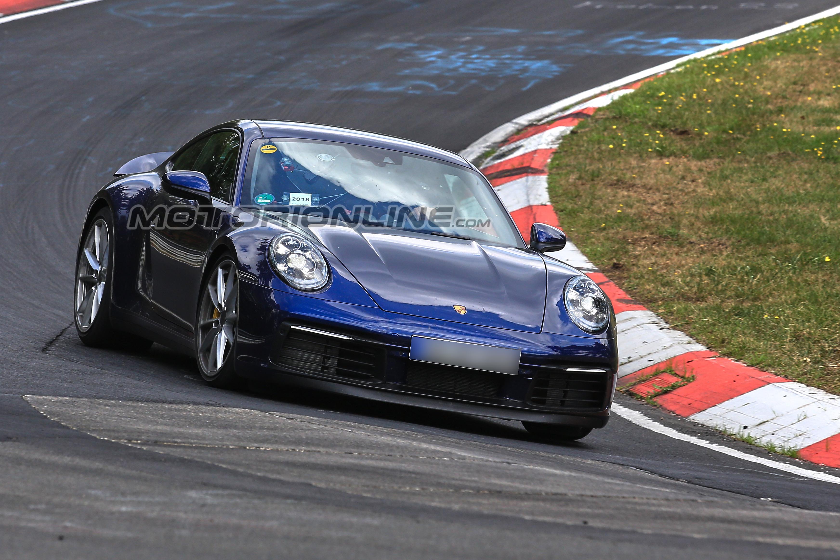 Porsche 911 992 foto spia 6 settembre 2018