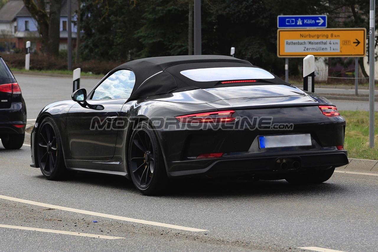 Porsche 911 Speedster - Foto spia 13-04-2018