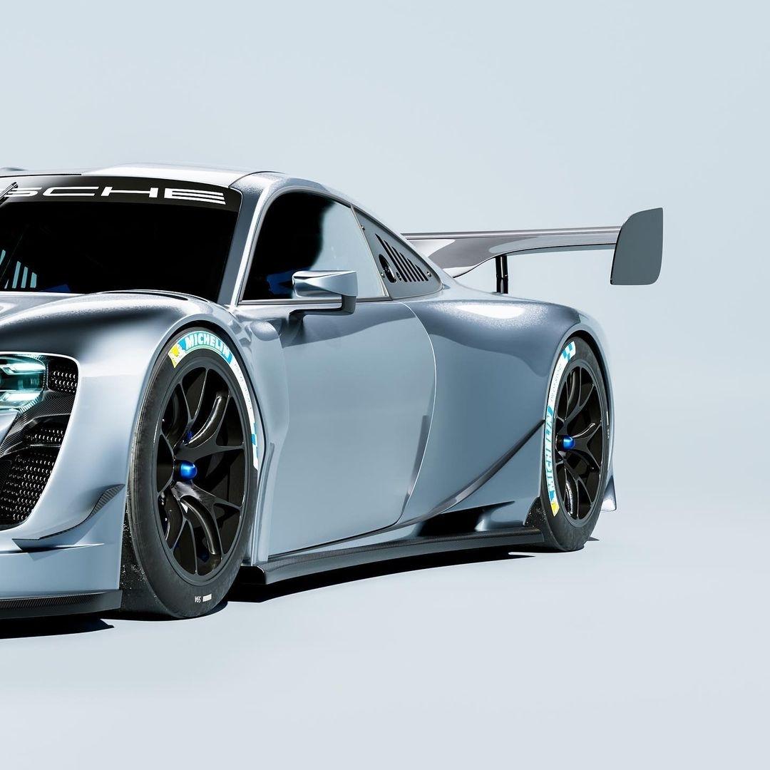 Porsche GT1 EVO render