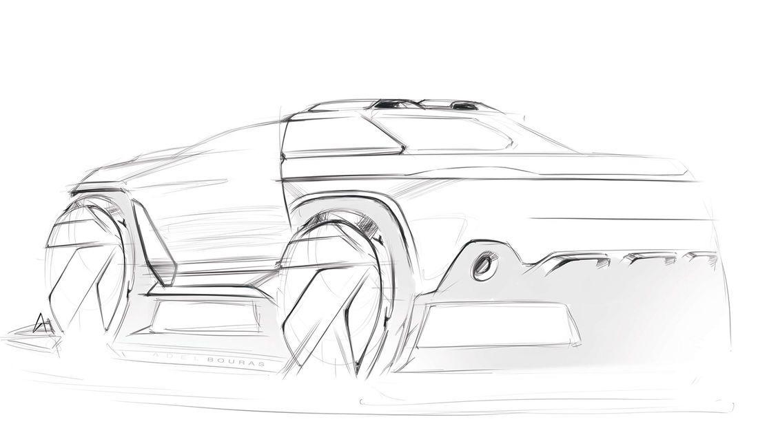 Porsche Traykan - Rendering