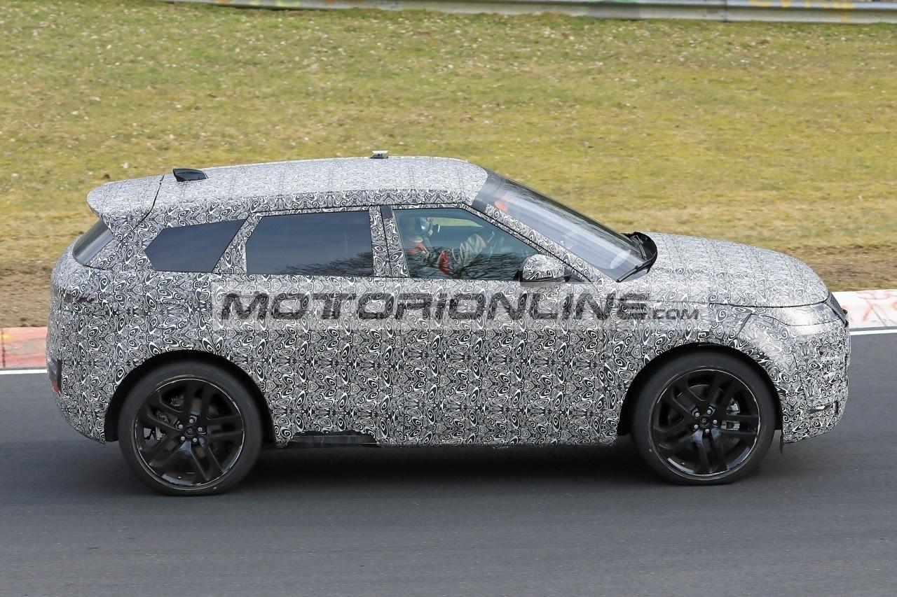 Range Rover Evoque foto spia 27-3-2018
