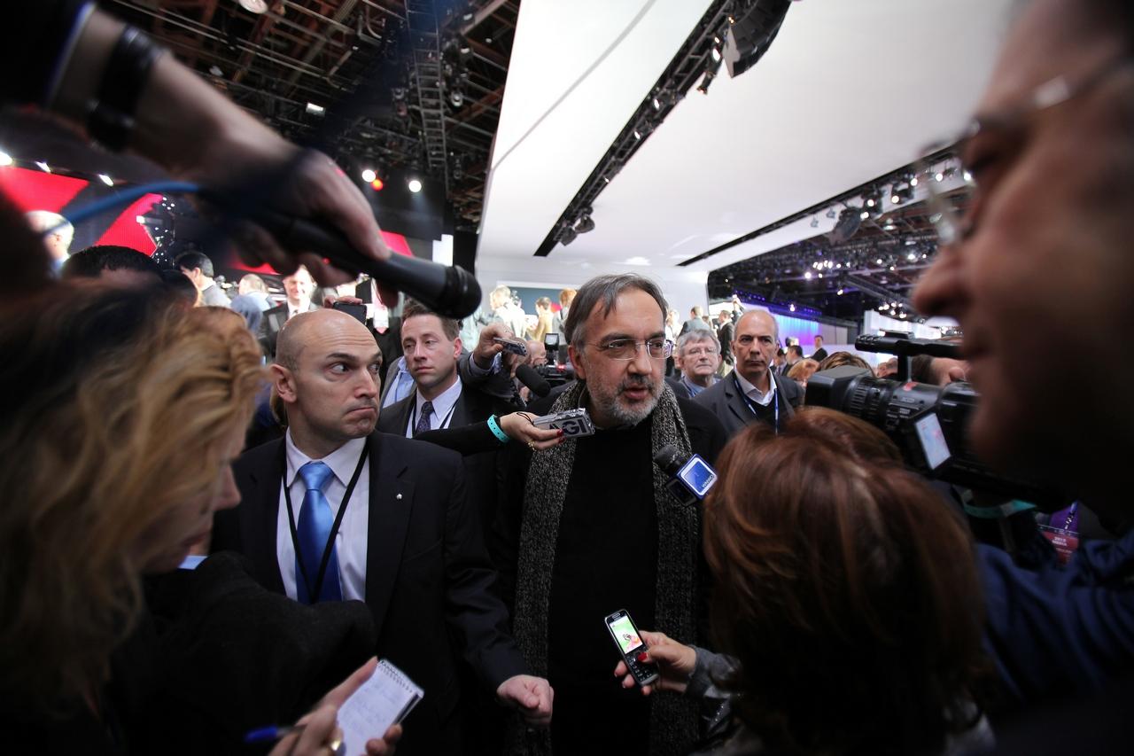 Sergio Marchionne - CEO di FIAT e Chrysler - Salone di Detroit 2012