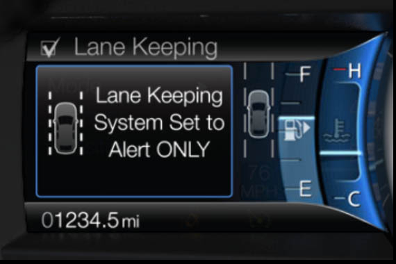 Sistema LKS su Ford Fusion 2013