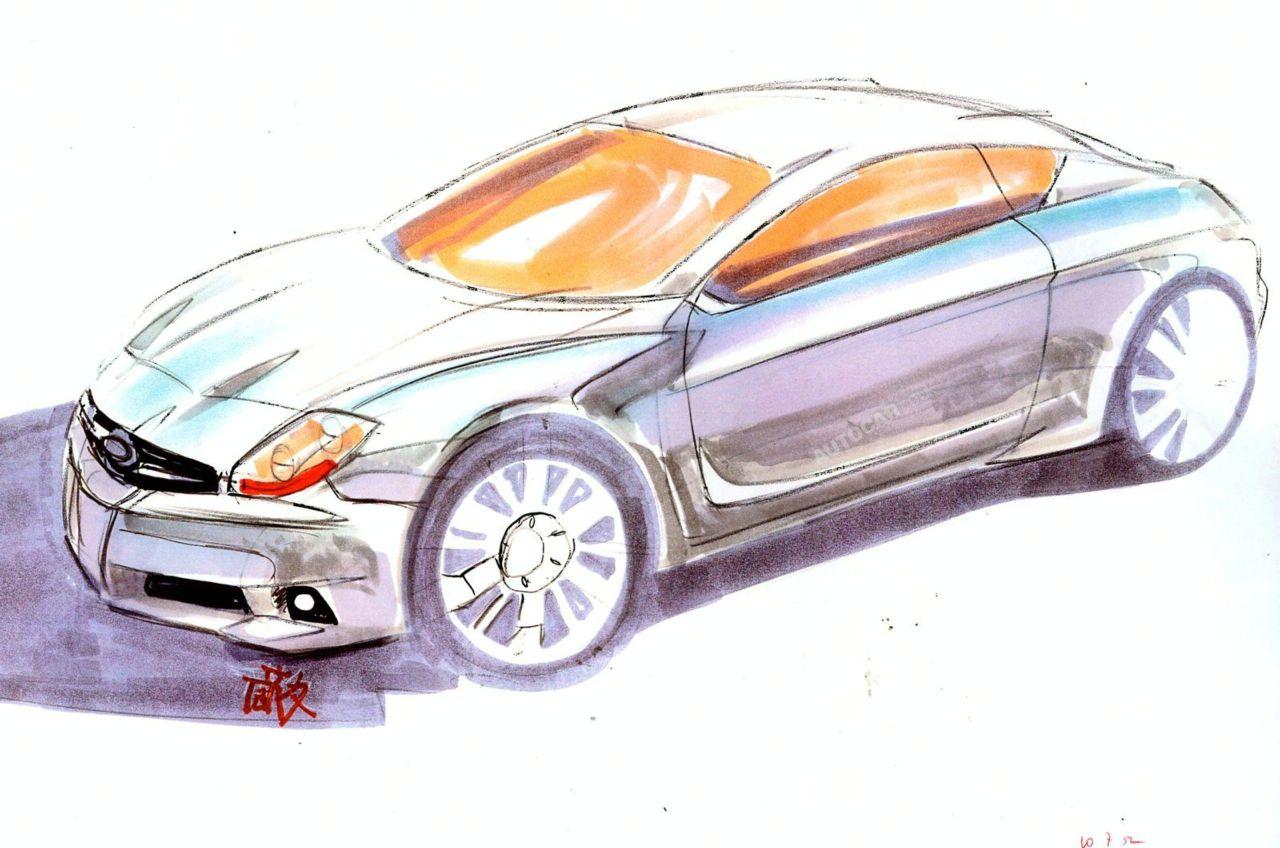 Subaru Coupè: bozzetti