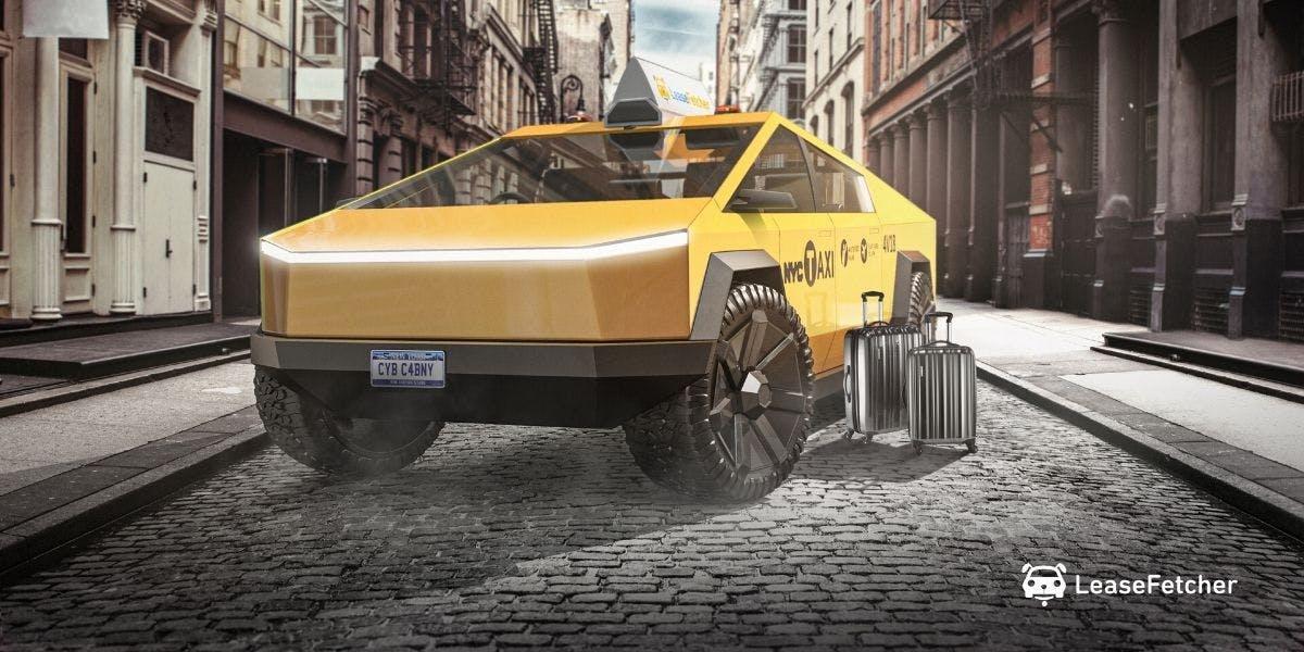 Tesla Cybertruck rendering - LeaseFetcher