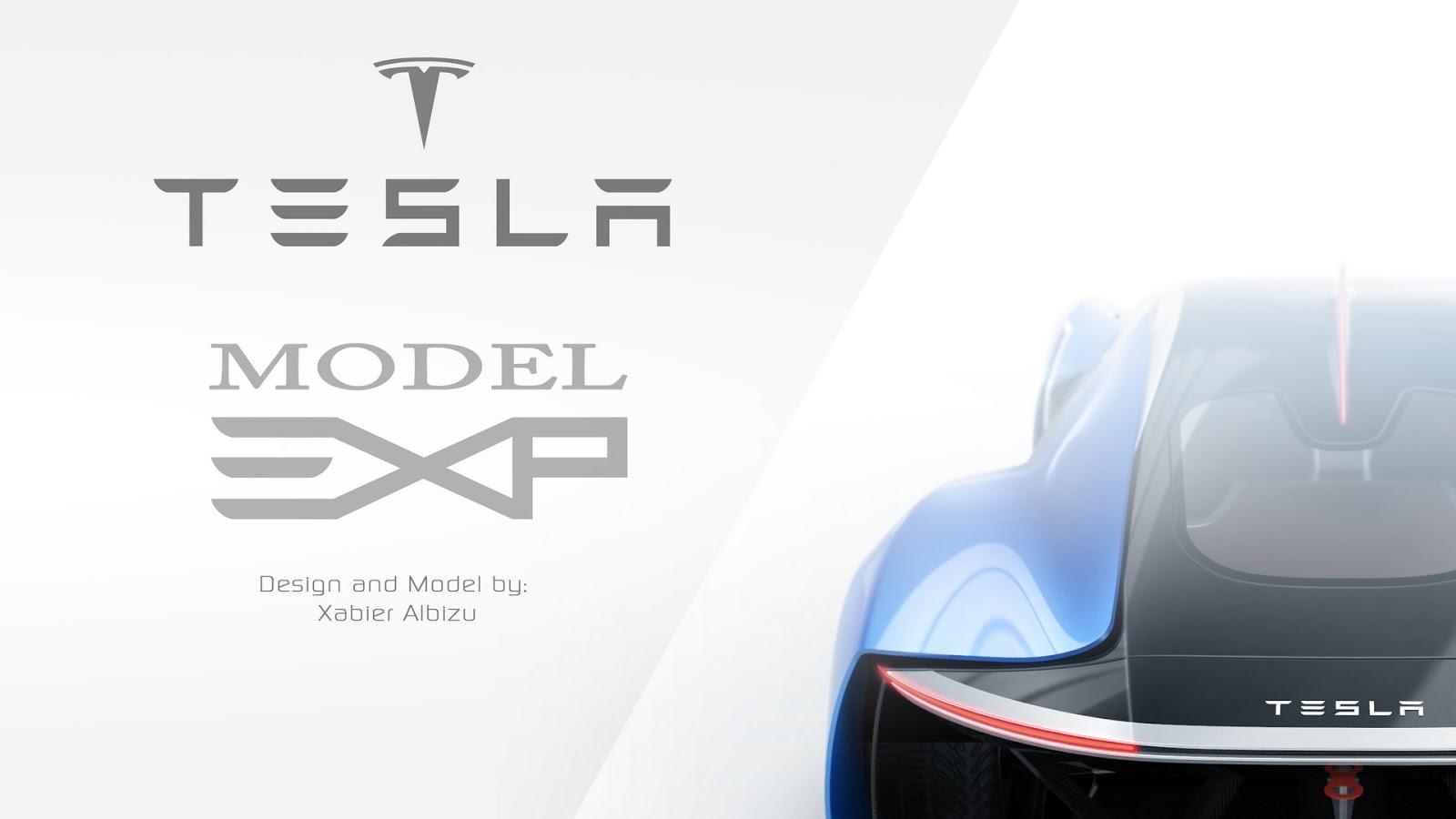 Tesla Model EXP - Rendering by Xabier Albizu
