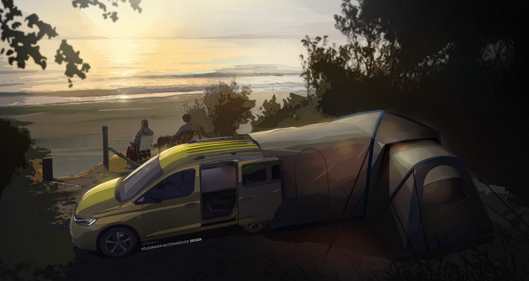 Volkswagen Caddy Mini-Camper 2021 - Teaser