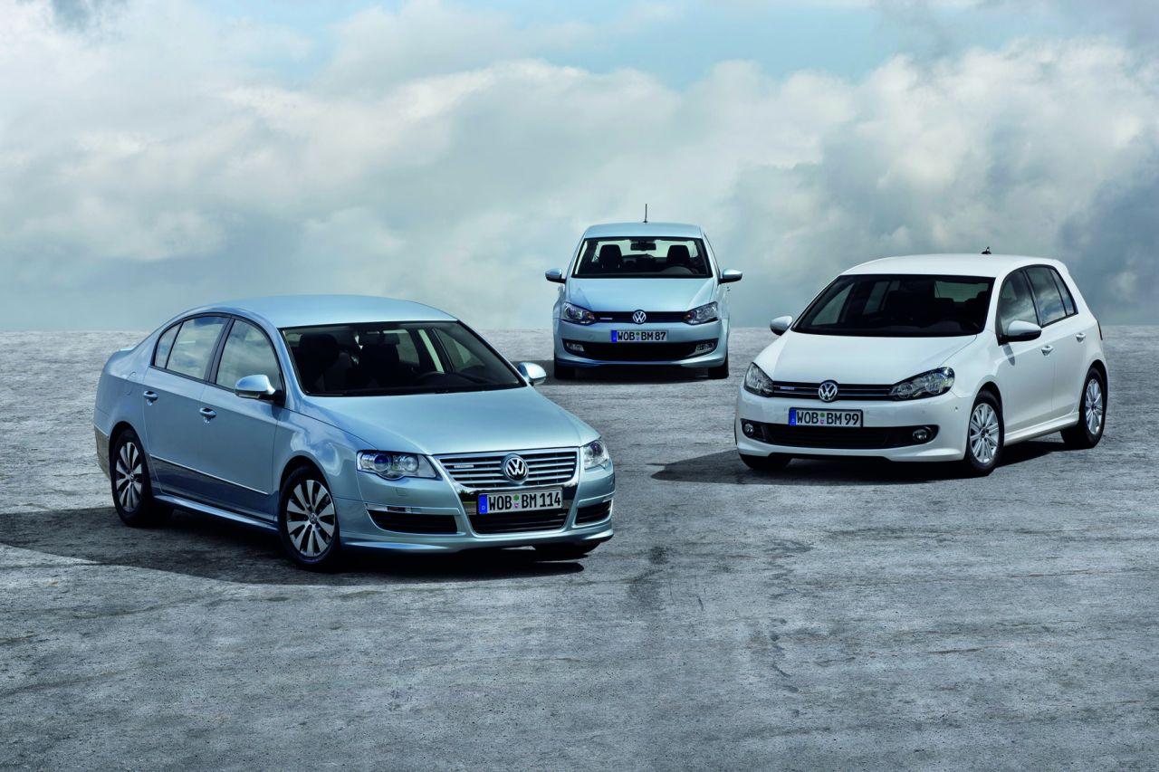 Volkswagen Golf, Polo e Passat BlueMotion