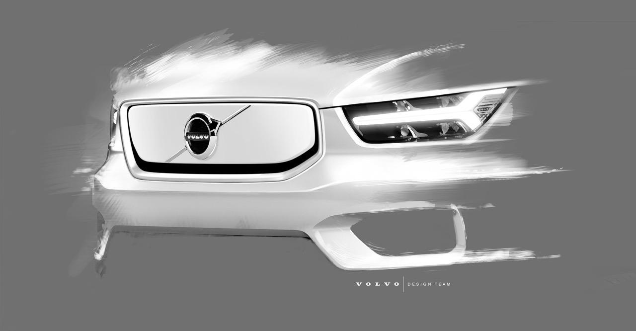 Volvo XC40 elettrica - Sketch