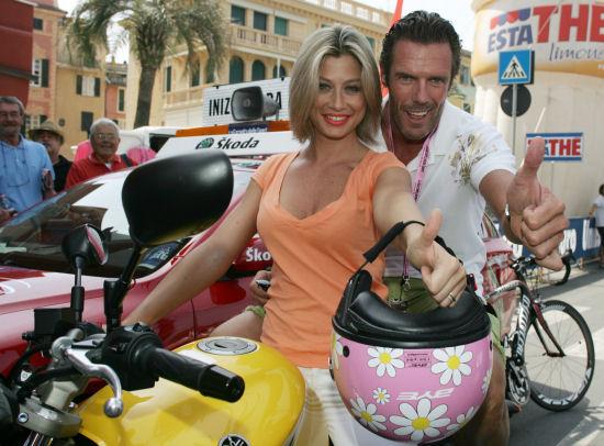 Maddalena Corvaglia ospite Yamaha al Giro d'Italia 2009