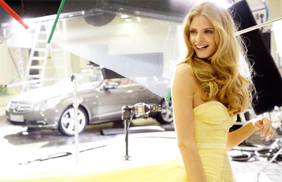 Mercedes-Benz Classe E Coupè alla Fashion Week di Berlino