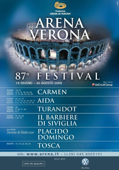 Volkswagen sponsor ufficiale del Festival Lirico di Verona fino al 2011