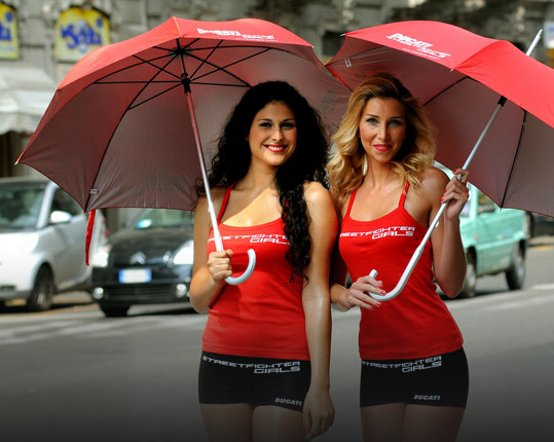 Ducati Streetfighter Girls