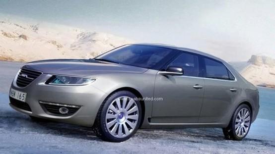 Forse un rendering ufficiale della Saab 9-5 CGI berlina e wagon