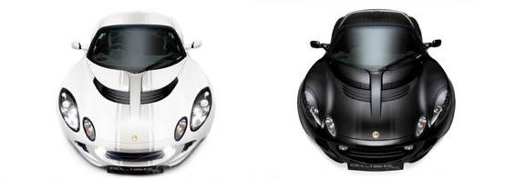 Ecco a voi i nuovi bodykit Black e White della Lotus Elise
