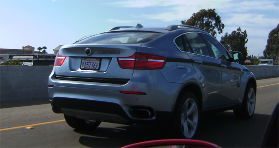 BMW X6 ActiveHybrid sorpresa durante i test in California