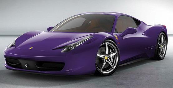 Esplosione di colori sulla Ferrari 458 Italia
