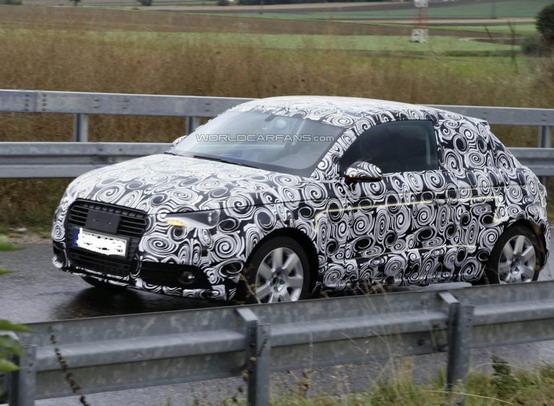 Prototipo della nuova Audi A1 fotografato per la prima volta