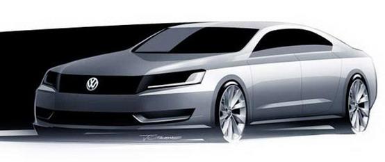 Volkswagen mostra sketch ufficiale della sua nuova sedan
