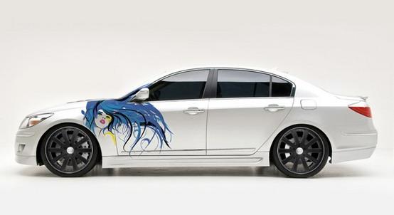 """Arte sulle ruote: la Hyundai Genesis Sedan verrà decorata """"live"""" al SEMA"""