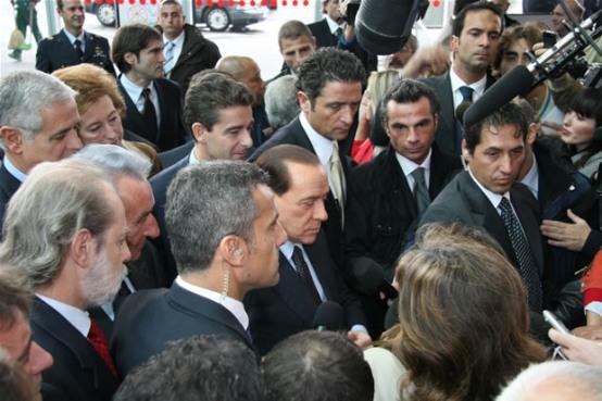 EICMA 2009: Il Primo Ministro Silvio Berlusconi alla cerimonia inaugurale