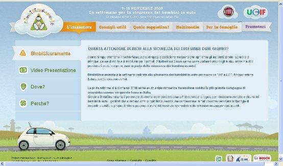 """Fiat presenta """"BimbiSicuramente 2009"""", la settimana per la sicurezza dei bambini in automobile"""