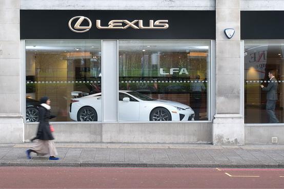 Lexus sceglie un concessionario di Londra per distribuire la sua supercar LFA