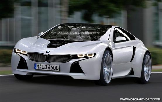 Immagine renderizzata di una sportiva basata sulla BMW EfficientDynamics Concept