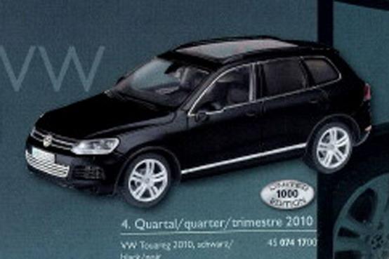 Ancora giocattoli: anteprima in miniatura della Volkswagen Touareg 2011