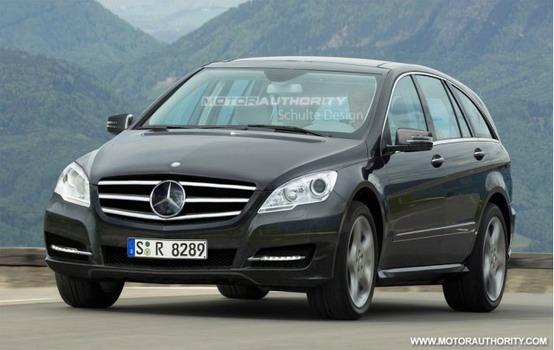 Immagine computerizzata del prossimo facelift della Mercedes Classe R
