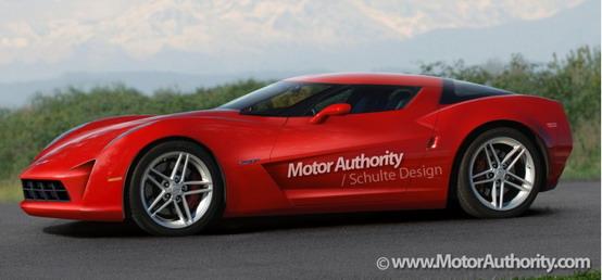 Rendering della prossima Chevrolet Corvette C7 2013