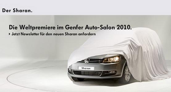 Volkswagen concede un piccolissimo sguardo alla nuova Sharan, in arrivo a Ginevra