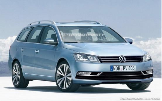 Volkswagen Passat Variant, renderizzato il modello 2012